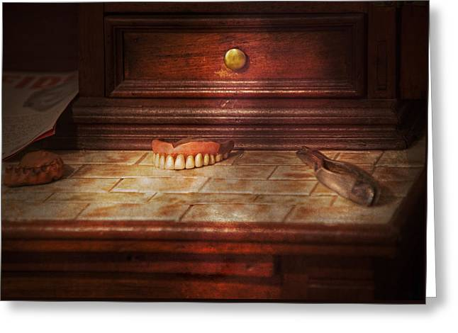Dentist - False Teeth Greeting Card by Mike Savad