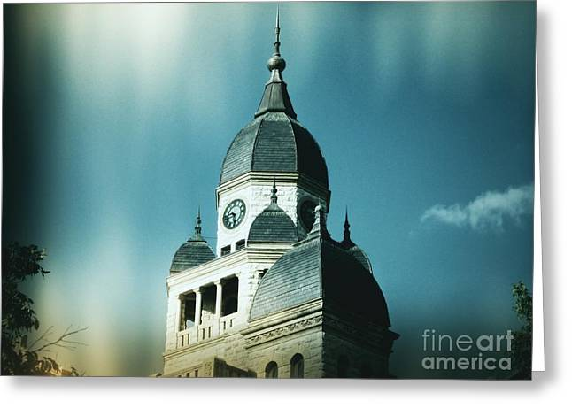 Denton County Courthouse Greeting Card by Angela Wright