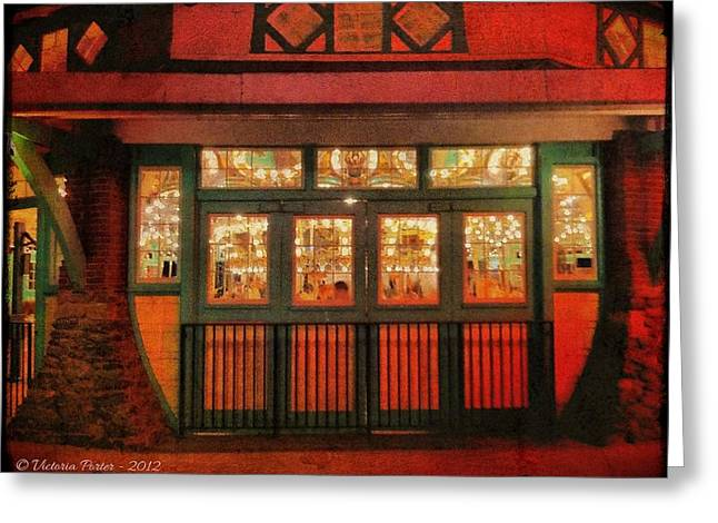 Dentzel Carousel As It Is Closing For The Night Greeting Card
