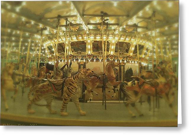 Dentzel Carousel At Glen Echo Park Maryland Greeting Card