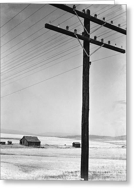 Depression Era Rural America Greeting Card by Photo Researchers