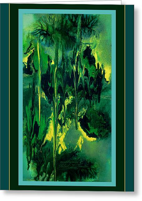 Greeting Card featuring the painting Depths Of Being by Robert Kernodle