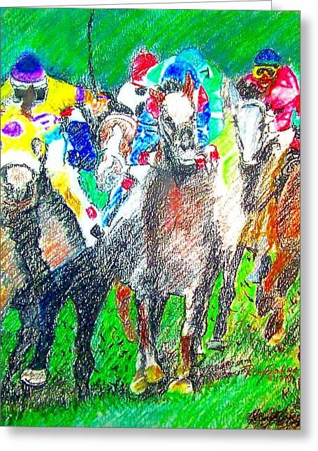 Derby Greeting Card by Rom Galicia