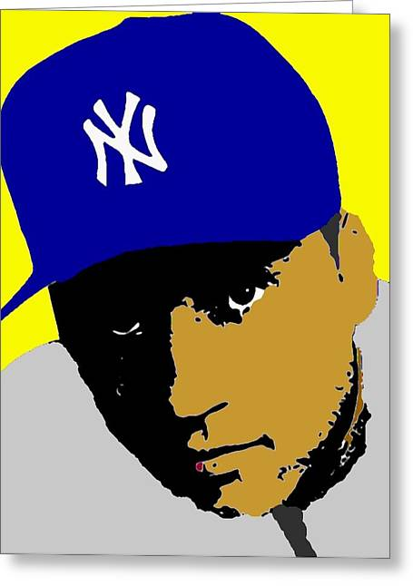 Derek Jeter  Greeting Card by Paul Van Scott