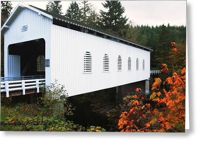 Greeting Card featuring the photograph Derena Covered Bridge by Tyra  OBryant
