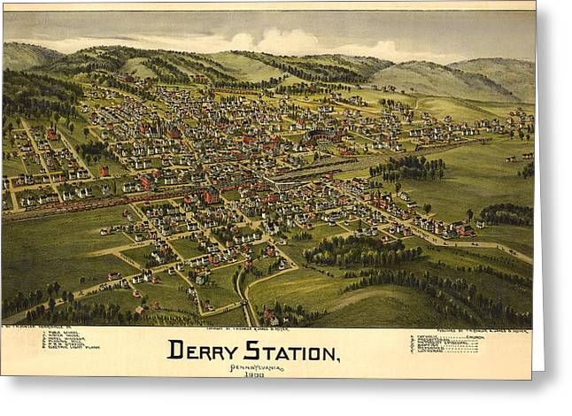 Derry Station Pennsylvania Greeting Card by Donna Leach