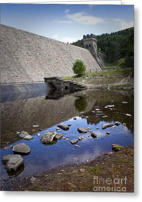 Derwent Dam Greeting Card by Martin Jones