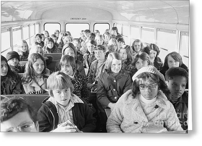 Desegregation: Busing, 1973 Greeting Card