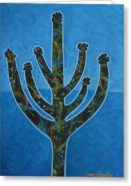 Desert Blue Greeting Card by Lance Headlee
