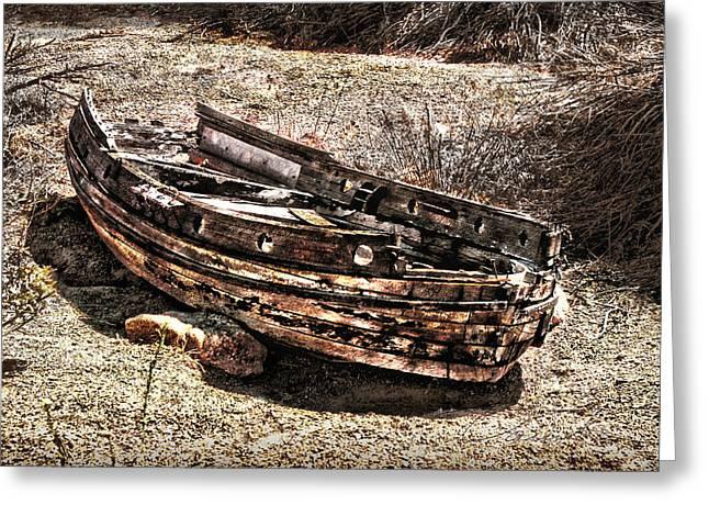 Desert Boat Greeting Card by Danuta Bennett