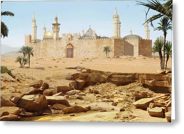 Desert City Greeting Card