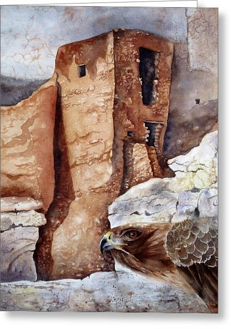 Greeting Card featuring the painting Desert Dwellers by Mary McCullah