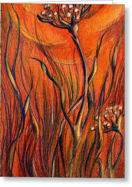 Greeting Card featuring the mixed media Desert Flower by Nada Meeks
