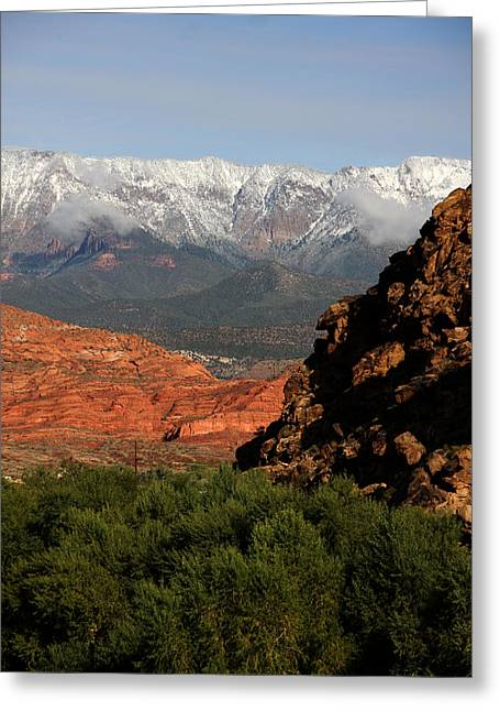 Desert Foothills II Greeting Card by Marta Alfred