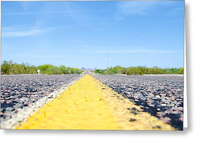 Desert Highway Greeting Card