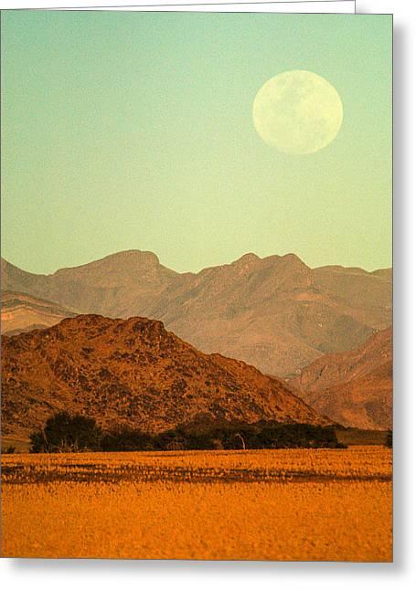 Desert Moonrise Greeting Card