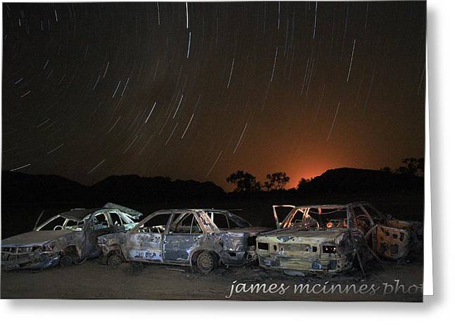 Desert Nights Greeting Card by James Mcinnes