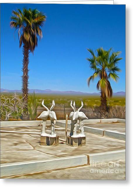 Desert Oasis - 03 Greeting Card by Gregory Dyer