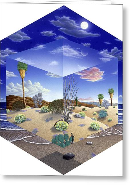 Desert On My Mind Greeting Card by Snake Jagger