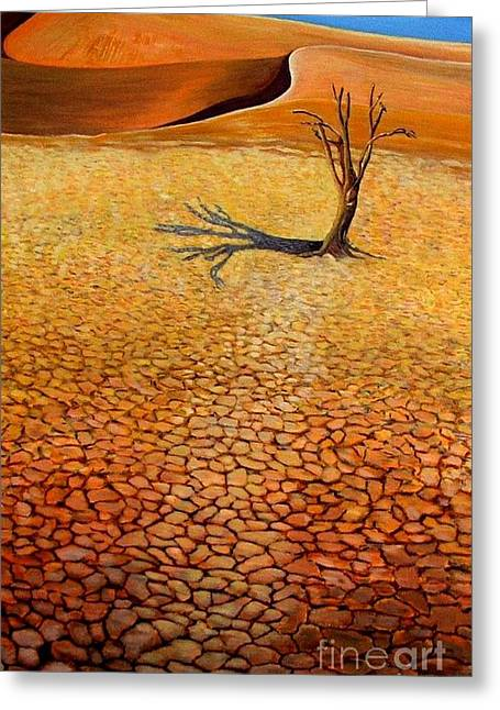 Desert Pan Greeting Card by Caroline Street
