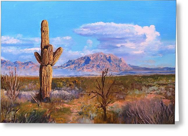 Desert Scene 4 Greeting Card by M Diane Bonaparte
