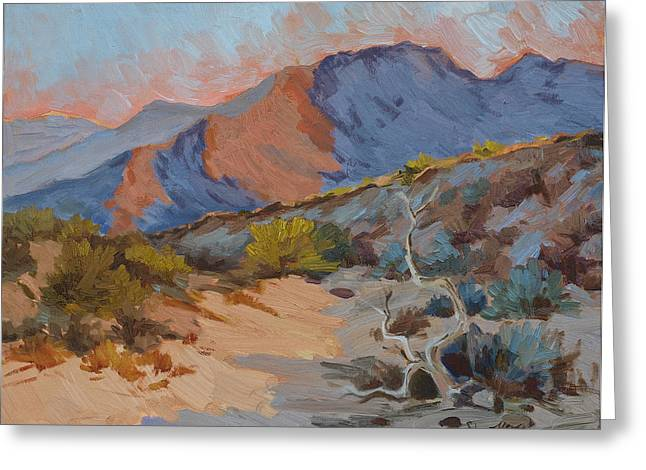 Mojave Desert Greeting Cards - Desert Shadows Greeting Card by Diane McClary
