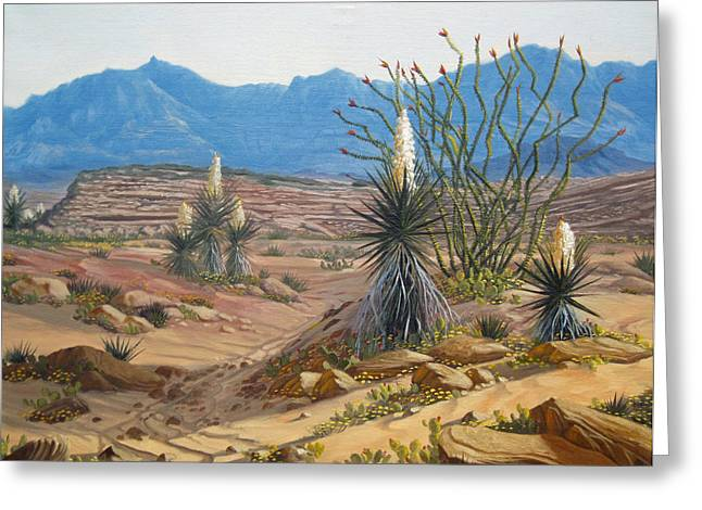 Desert Streams Greeting Card by Rick Mittelstedt