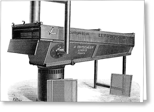 Dessicating Machine, 19th Century Greeting Card by