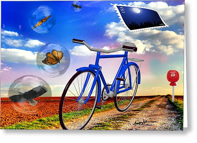 Destination Unknown Greeting Card by Anthony Caruso