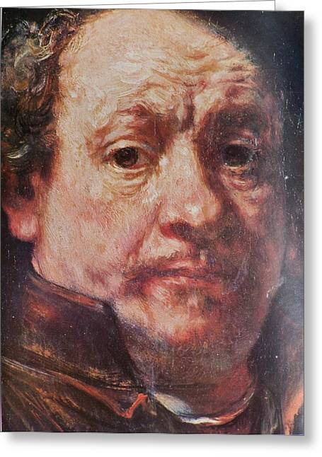 Detail From Portrait Of The Artist Rembrandt Canady Portfolio 9 Greeting Card by Jake Hartz
