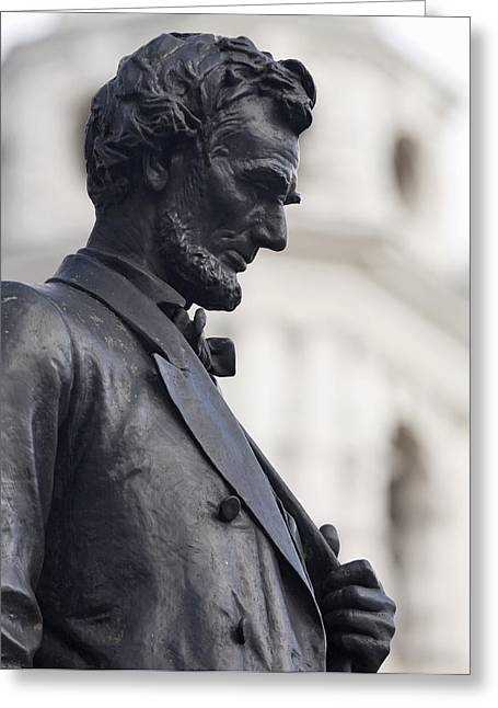 Detail Of Abraham Lincoln Greeting Card by Augustus Saint-Gaudens