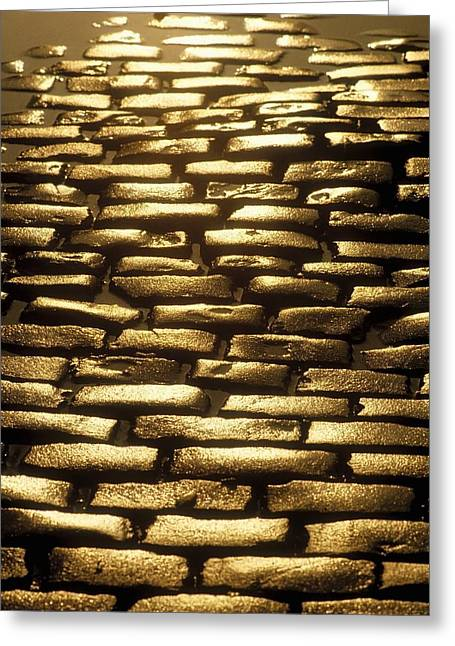 Detail Of Cobblestones, Dublin, Ireland Greeting Card