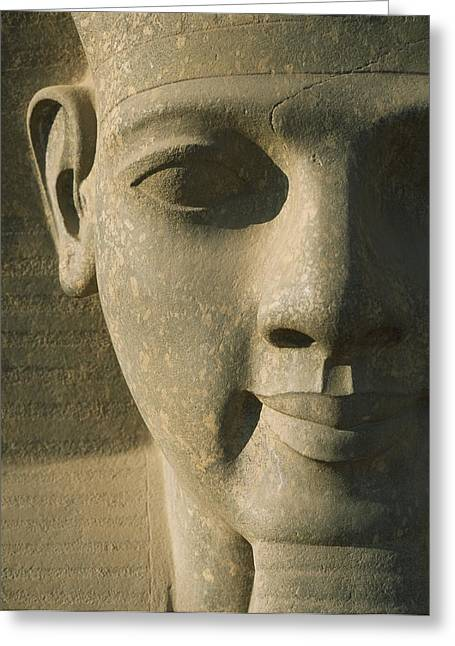 Detail Of Pharaoh Head Greeting Card by Axiom Photographic