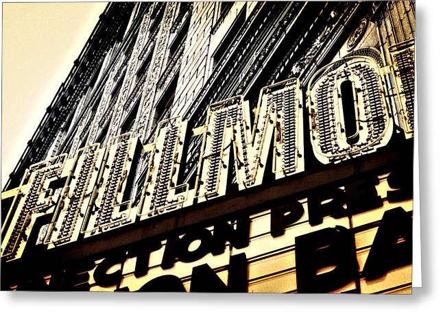 Detroit Fillmore Theatre Greeting Card by Alanna Pfeffer
