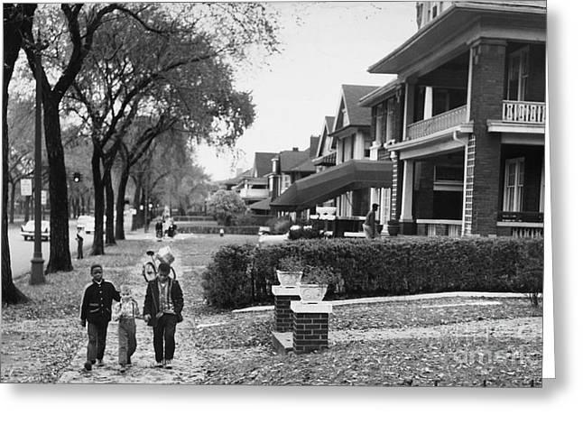 Detroit: Integration, 1957 Greeting Card