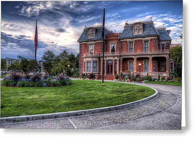 Devereaux Mansion Greeting Card by Brad Granger