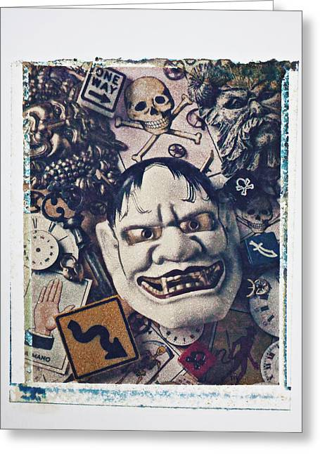 Devil Mask Greeting Card by Garry Gay