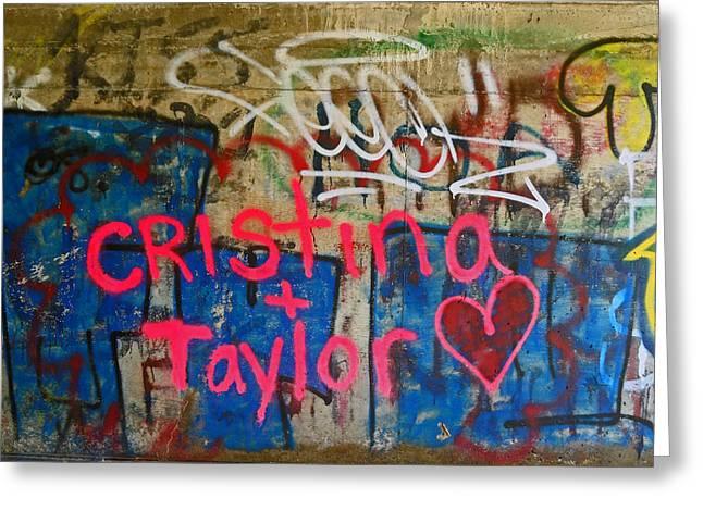 Devils Punch Bowl Grafitti 7 Greeting Card