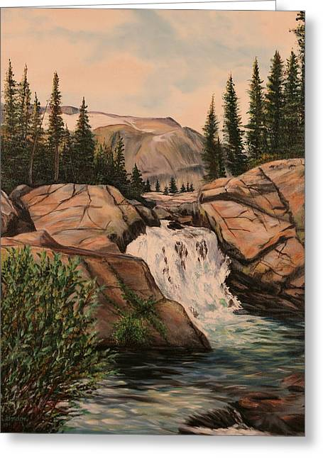 Dewey Falls Greeting Card by Patti Gordon