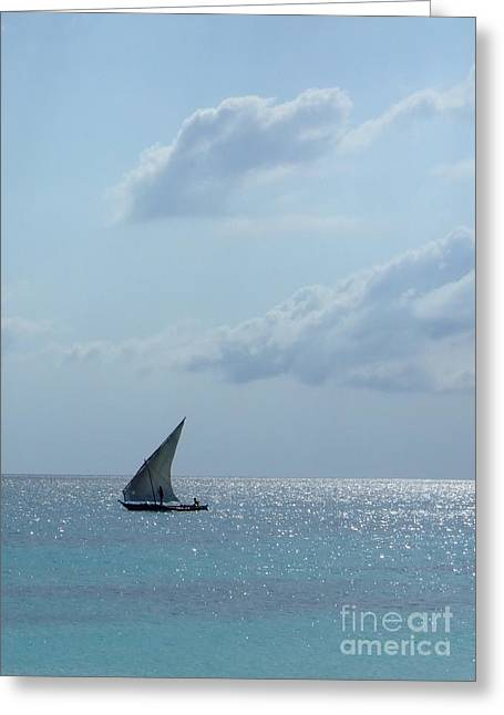 Dhow Greeting Card by Alan Clifford