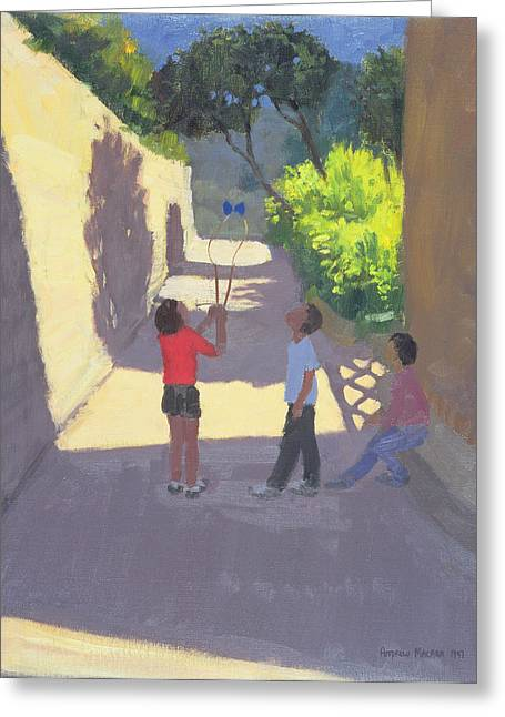 Diabolo France Greeting Card by Andrew Macara