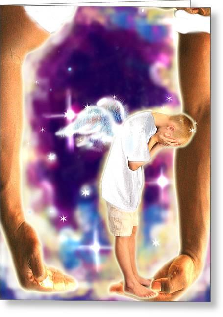 Diamond-meeks.angelic Greeting Card