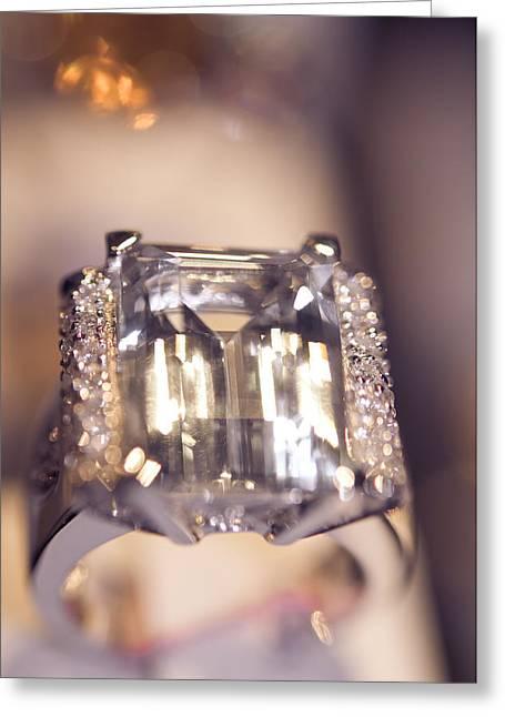 Diamond Ring. Spirit Of Treasure Greeting Card by Jenny Rainbow