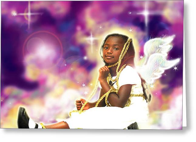 Diamond.angelic 2 Greeting Card by Nada Meeks