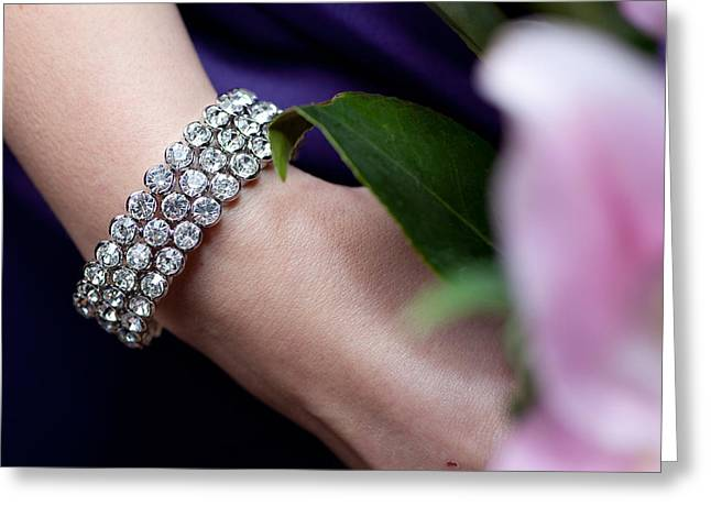 Diamonte Bracelet Greeting Card