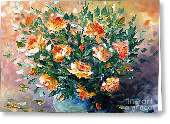 Diana S Roses Greeting Card