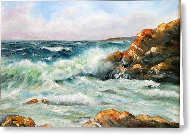 Diane's Cove Greeting Card by Max Mckenzie