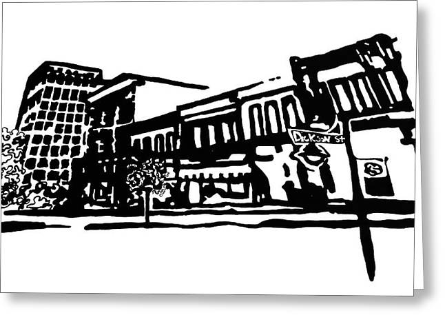 Dickson Street In Fayetteville Ar Greeting Card by Amanda  Sanford