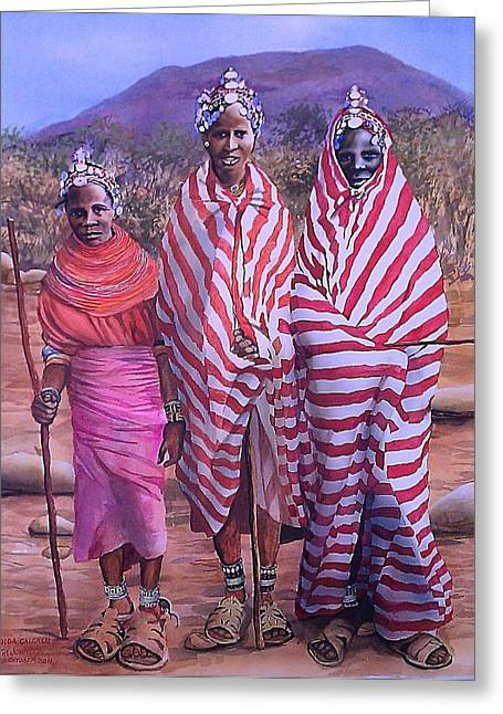 Greeting Card featuring the painting Dida Galgalu by Tim Johnson