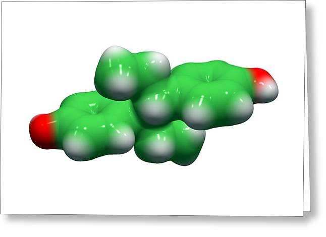 Diethylstilbestrol Drug Molecule Greeting Card by Dr Tim Evans
